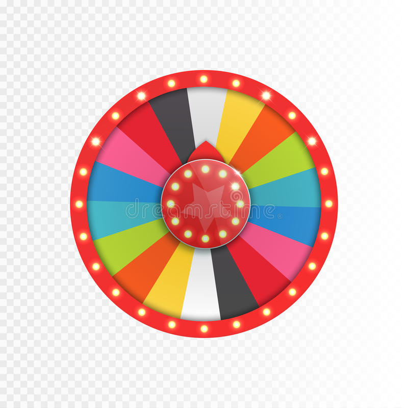 Colorful wheel of luck or fortune infographic. Vector. Illustration stock illustration