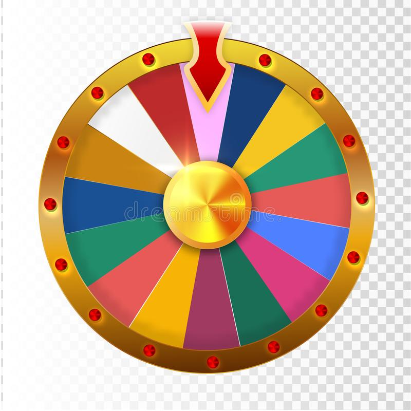 Colorful wheel of luck or fortune infographic. Vector illustration. ESP 10 royalty free illustration