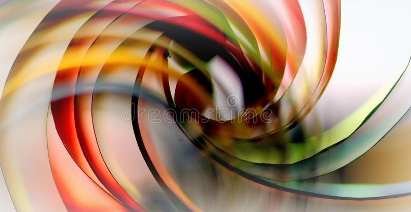 Colorful whirl paper abstract background. Coloured paper twisted looks like a whirl of colors stock image