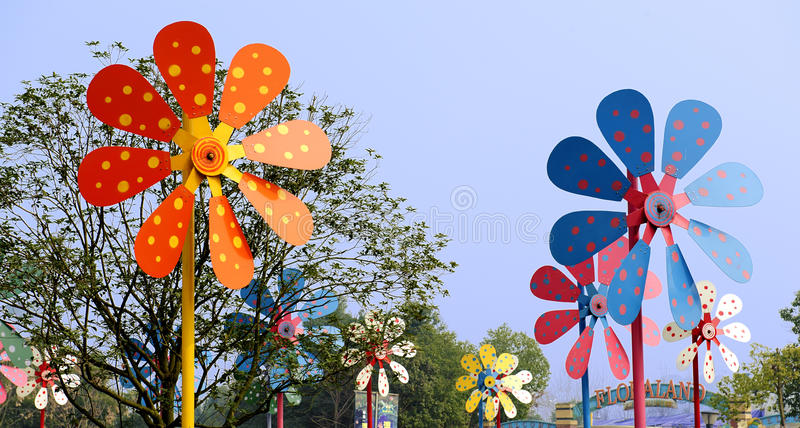 Colorful Windmill Stock Images