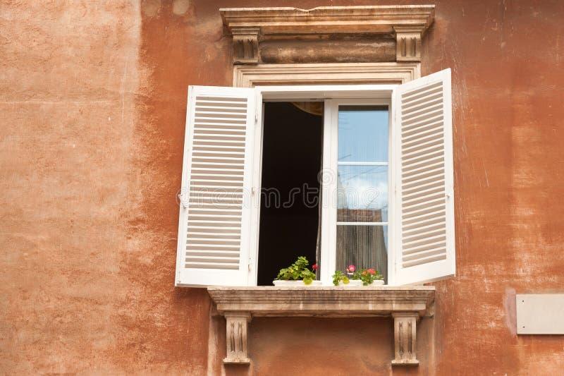 Colorful window in Croatia stock photos
