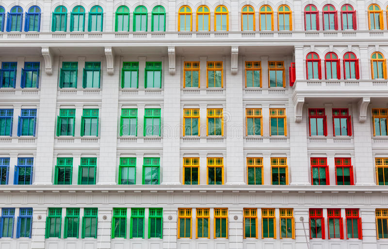 Download Colorful windows stock image. Image of house, city, asia - 22746833