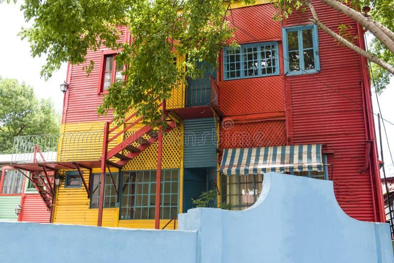 La Boca Buenos Aires. Colorful windows and walls in Caminito - La Boca, Buenos Aires royalty free stock photos