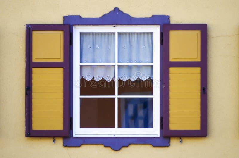 Colorful windows stock photo