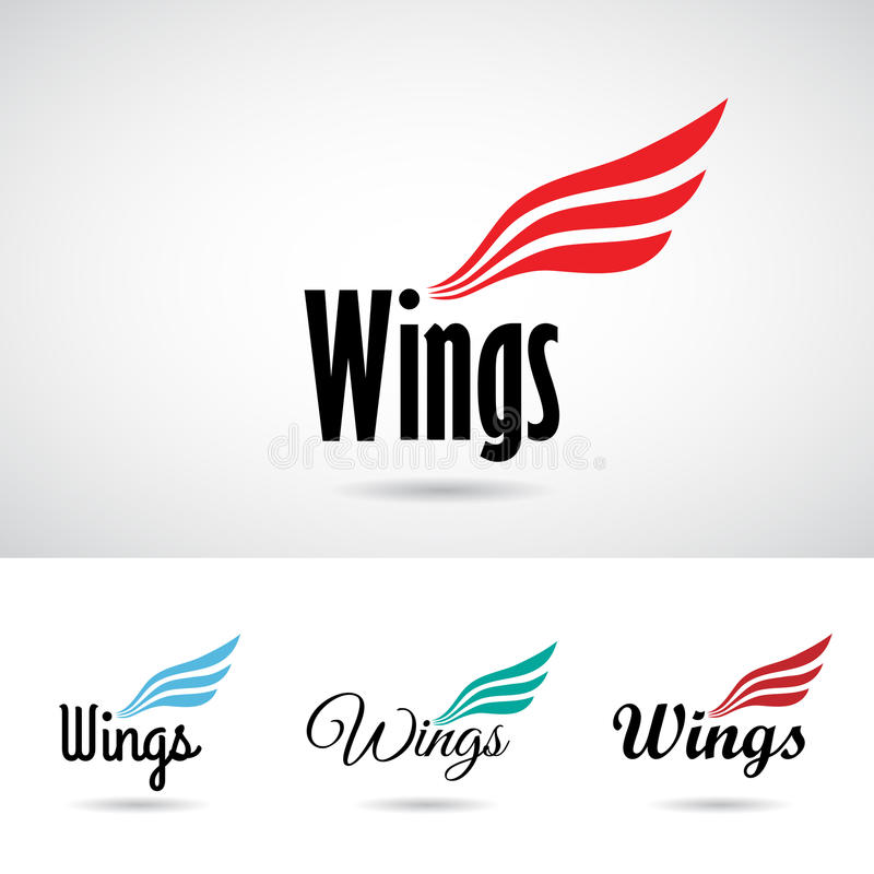 Colorful Wing Shape Logo Icon stock photos
