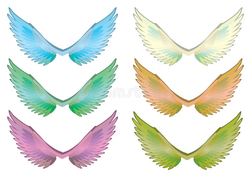 Download Colorful Wings Set Vector Stock Vector - Image: 42188117