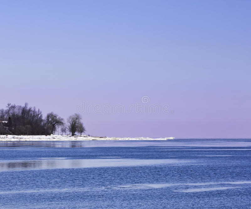 Colorful Winter Shore royalty free stock image
