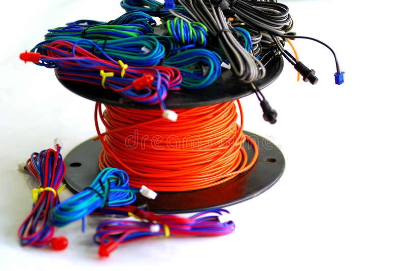 Colorful Wire stock image
