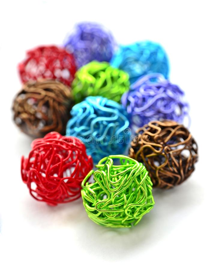 Free Colorful Wire Balls Royalty Free Stock Photography - 25303847