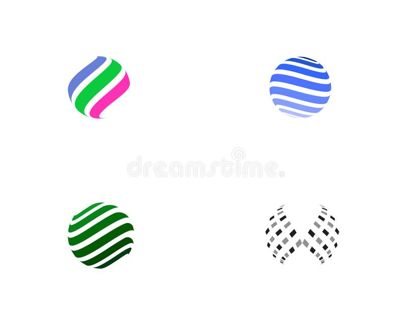 Colorful wire world logo icon royalty free illustration