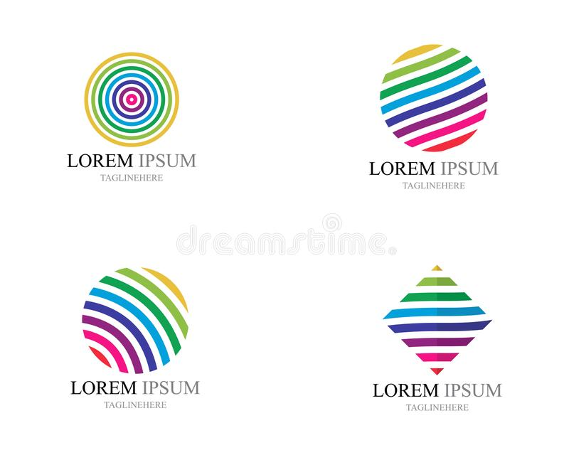 Colorful wire world logo icons vector illustration