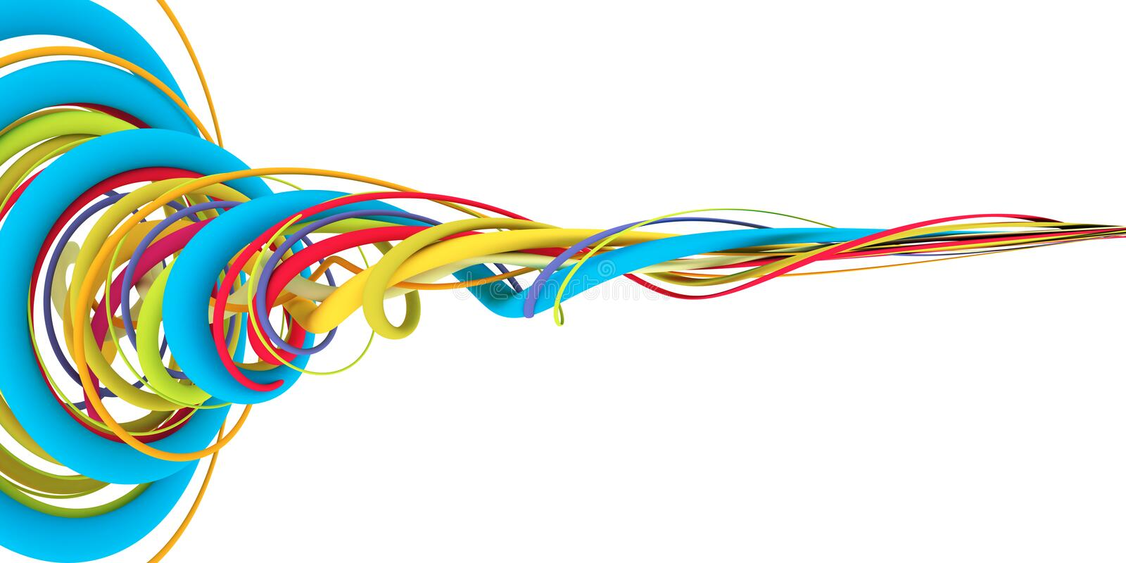 Colorful wires stock illustration. Illustration of technology - 40820175