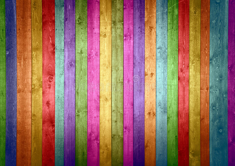 Colorful wood planks stock images image