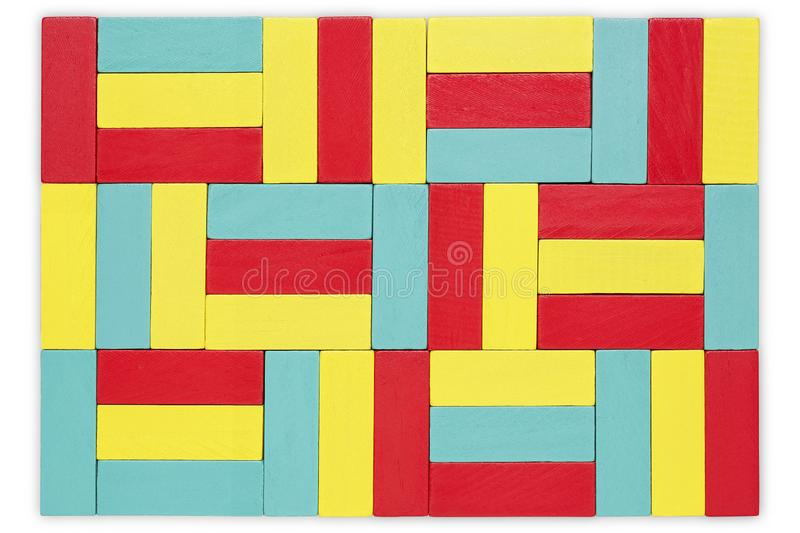 Colorful wooden blocks royalty free stock image