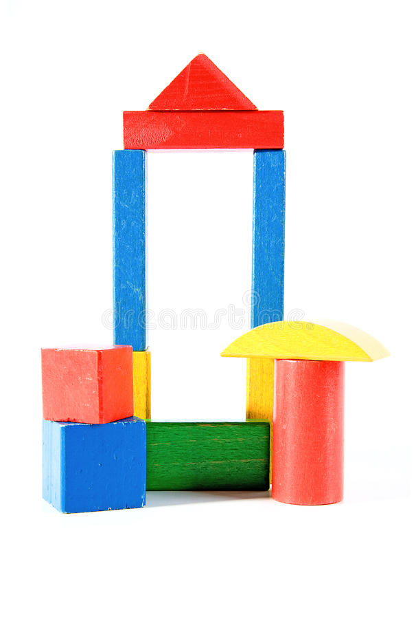 Download Colorful Wooden Building Blocks Stock Photo - Image: 12740986