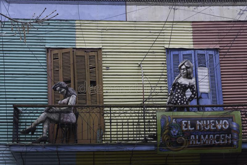 Colorful wooden house Caminito Barrio La Boca Buenos Aires Argentina Latin America. South America stock images