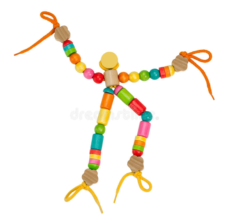 Colorful wooden puppet toy