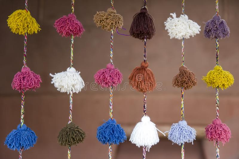 Colorful wool samples royalty free stock photo