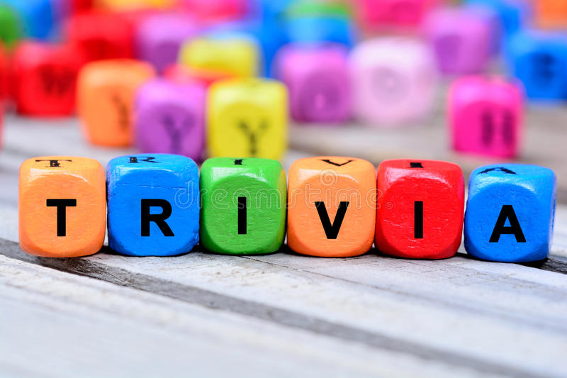 The colorful word Trivia on table royalty free stock photos