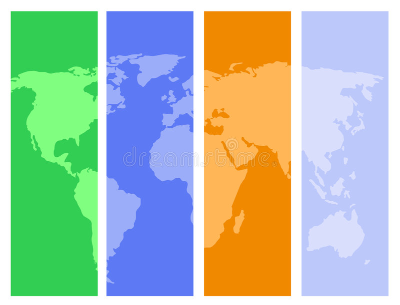 Download Colorful world map stock vector. Image of asia, world - 4241676