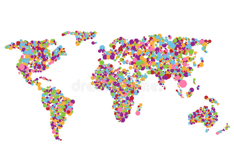 Colorful world map stock vector illustration of australia 77477322 colorful abstract creative world map on white background gumiabroncs Image collections