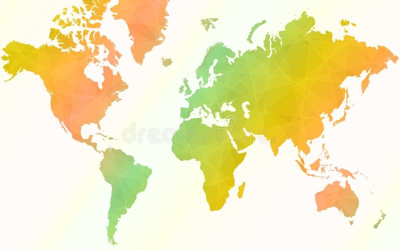 Colorful world map. Vector illustration of World Map vector illustration
