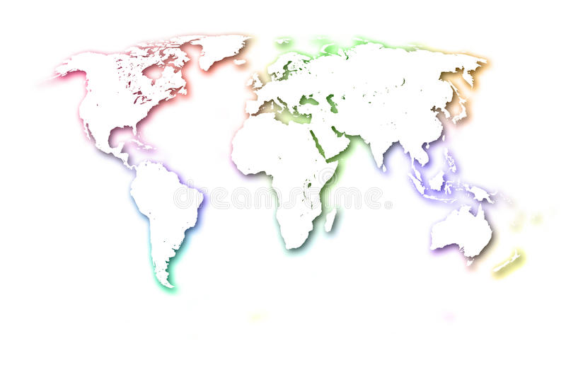 The Colorful World Map Stock Illustration Illustration Of Link - Colorful world map