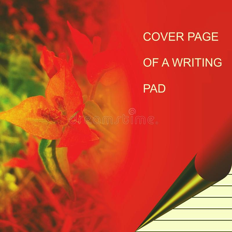 Colorful writing pad shaded with lighting effect computer generated background image and wallpaper design stock illustration