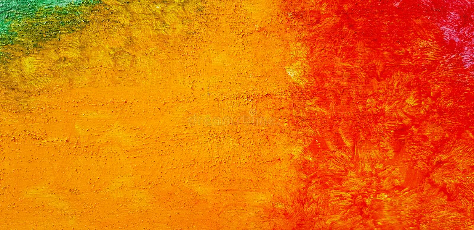 Colorful yellow and red painted on wall for background. Art wallpaper with acrylic color vector illustration