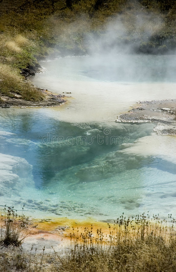 Colorful Yellowstone Hot Spring - Vertical royalty free stock photo