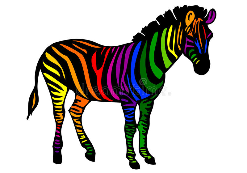 Download Colorful Zebra, Stock Photos - Image: 18566723