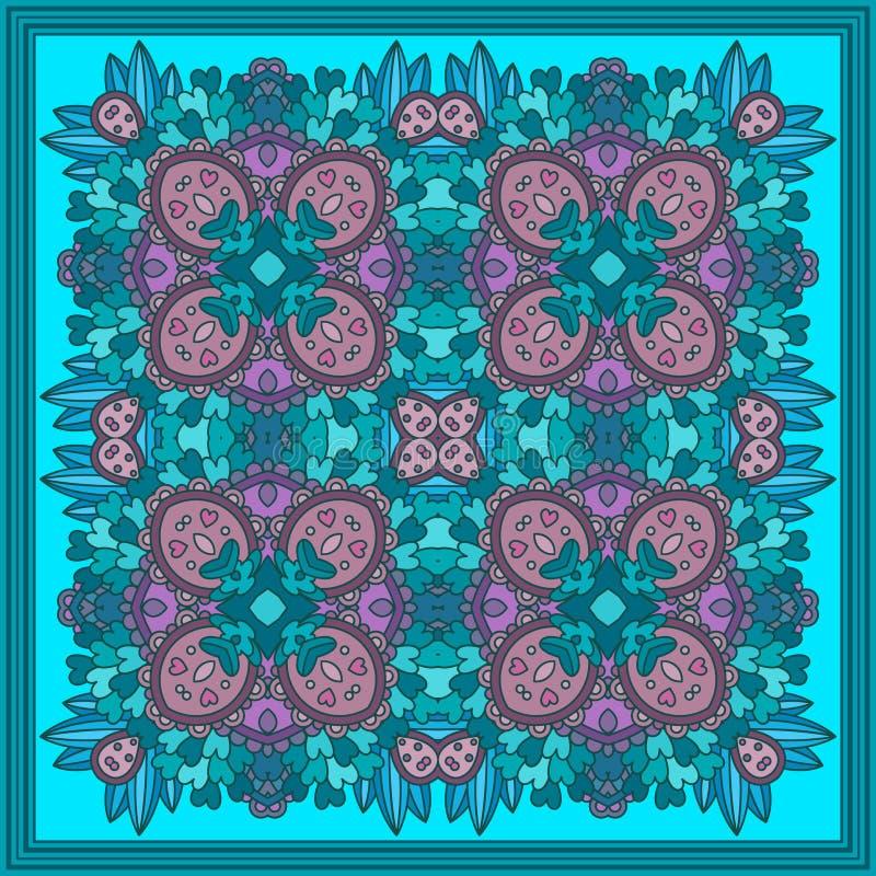 Colorful zentangle mandala. stock illustration