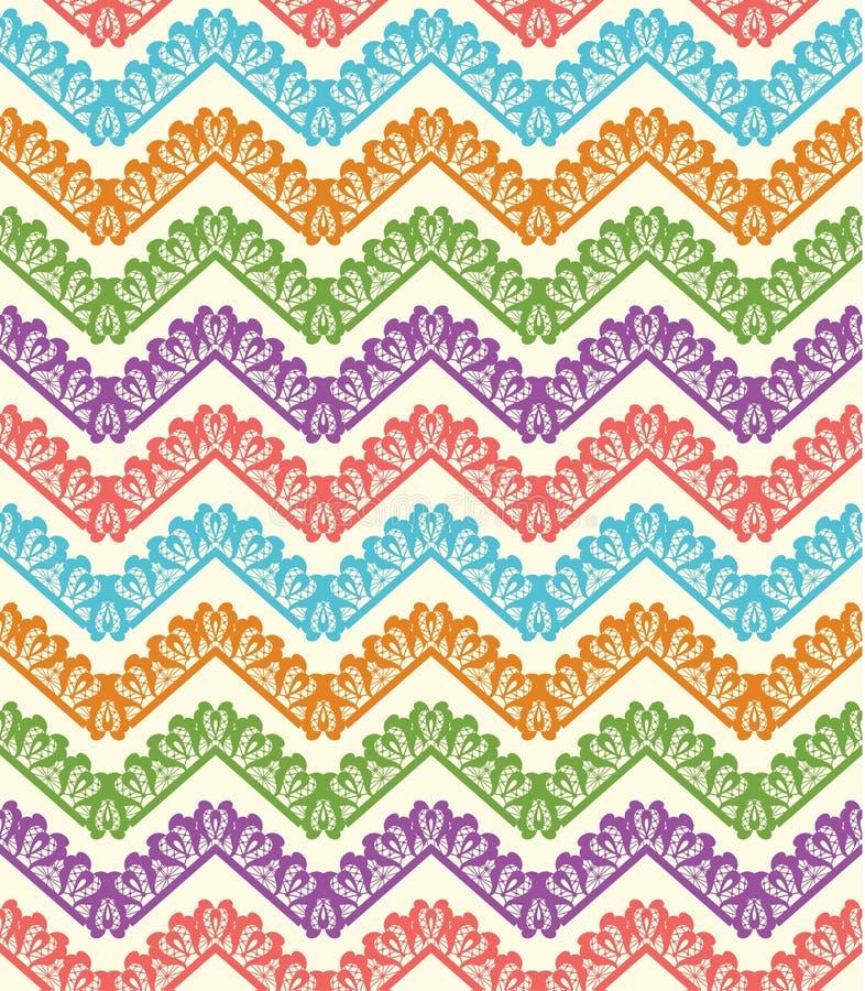 Colorful zigzag seamless pattern. Chevron background. Vector illustration royalty free illustration