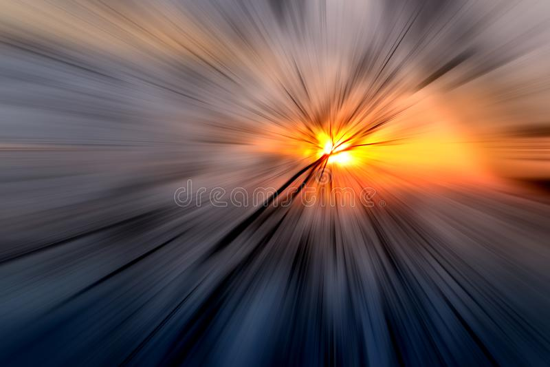 Colorful zoom blur effect for abstract background royalty free stock photos