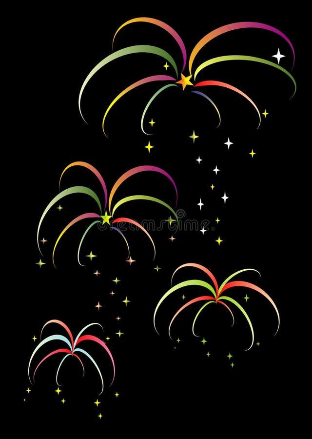 colorfulfireworks zdjęcie stock