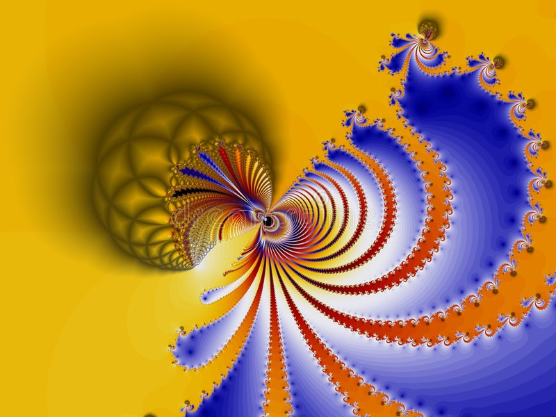 colorfull分数维螺旋 向量例证