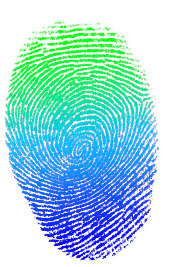 colorfull手指查出的打印 图库摄影