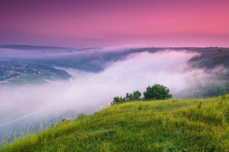 colorfull日出风景在夏天 库存照片