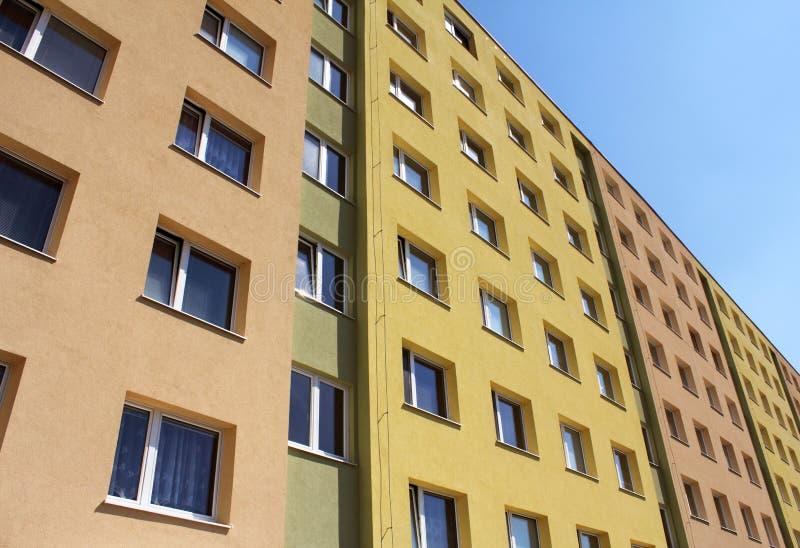 colorfull现代社区的房子 库存图片