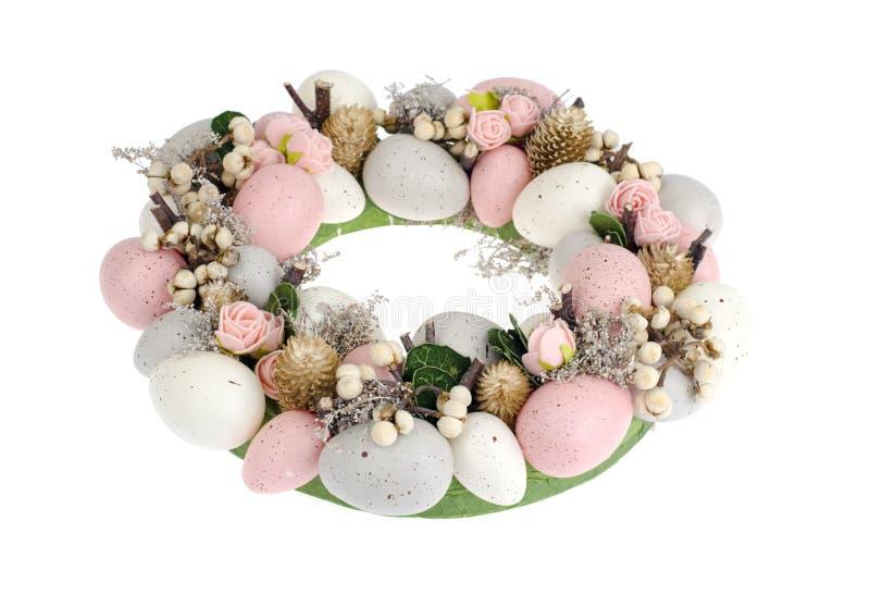 Colorfull美丽的欢乐复活节花圈 ?? 图库摄影