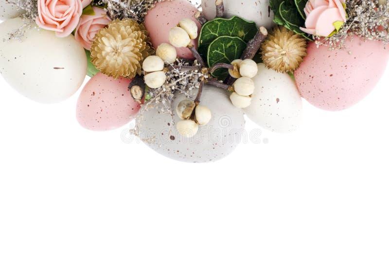Colorfull美丽的欢乐复活节花圈 ?? 免版税库存照片