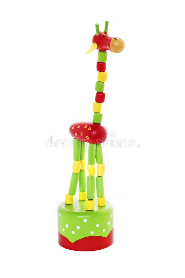 Colorfull长颈鹿玩具 库存图片