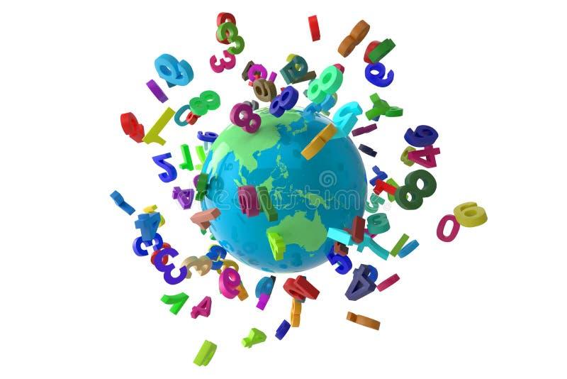 Colorfull глобуса номеров стоковая фотография rf