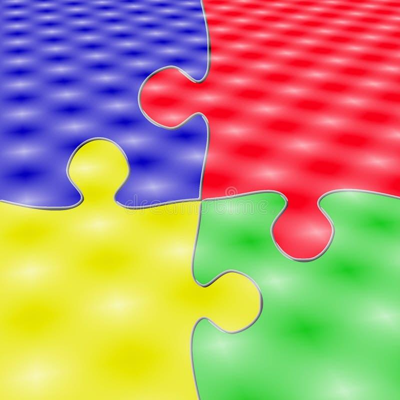 Colorfull 4 partes do enigma ilustração do vetor