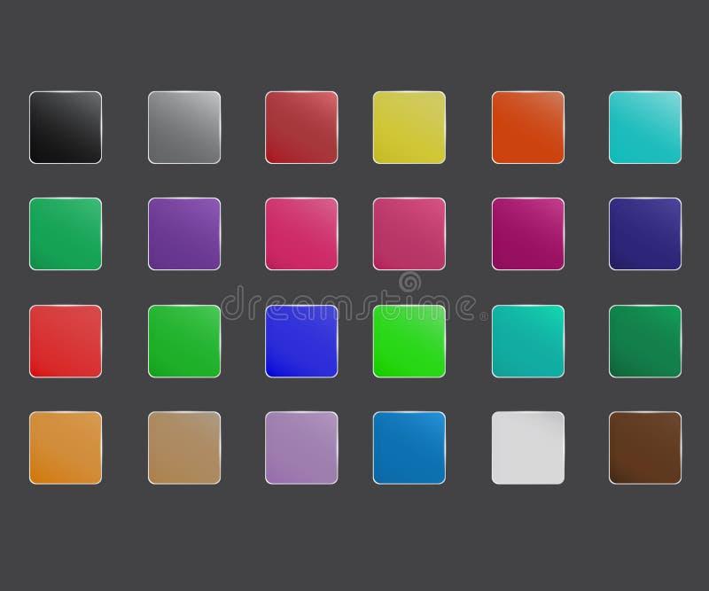 Colorfull app象集合 皇族释放例证