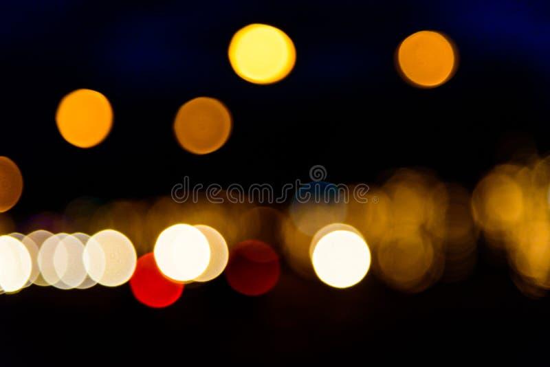 Colorfull bokeh glitter defocused lights abstract stock image