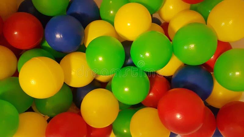 Colorfull bollar för gyckel arkivfoto