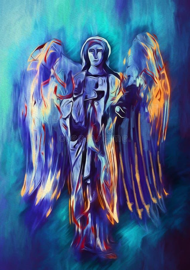 Colorfull boski anioł Dzisiejsza ustawa ilustracji