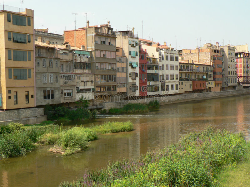 Download Colorfull Buildings By The Water (Girona) Royalty Free Stock Photos - Image: 1061488