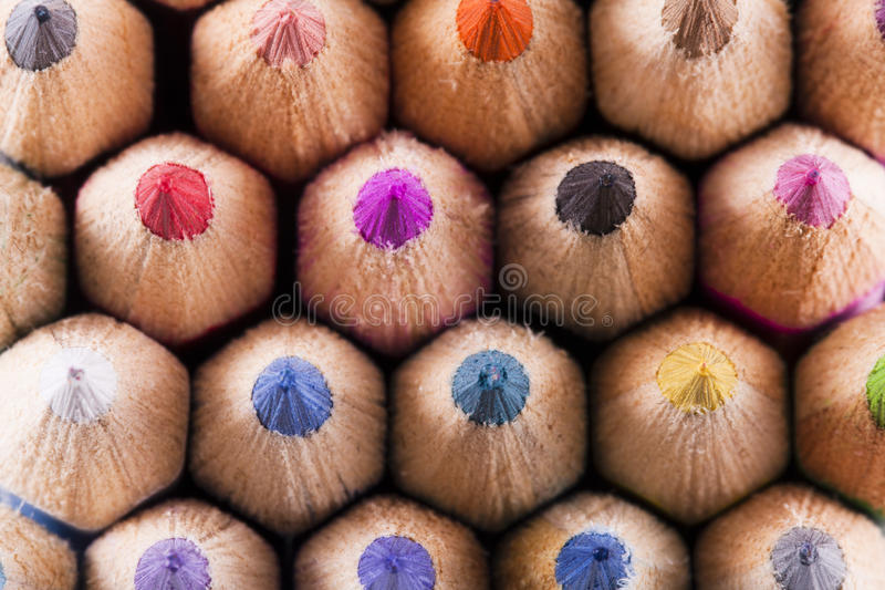 Colorfull coloriu lápis foto de stock royalty free